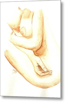 A Woman's Touch Metal Print by Donna Blackhall