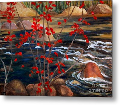 A Y Jackson The Red Maple Inspired Metal Print by Sherrill McCall