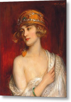 A Young Beauty Metal Print by Albert Lynch