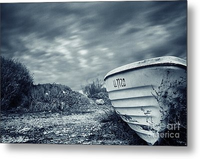 Abandoned Boat Metal Print by Stelios Kleanthous