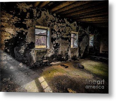 Abandoned Building Metal Print by Adrian Evans