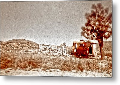 Abandoned Desert Trailer Metal Print by Gregory Dyer