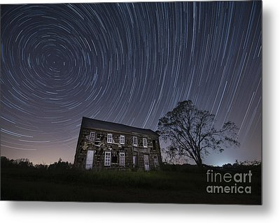 Abandoned History Star Trails Metal Print by Michael Ver Sprill