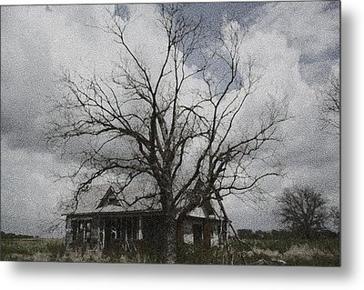 Abandoned House Metal Print by Donna G Smith