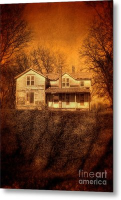 Abandoned House Sunset Metal Print by Jill Battaglia