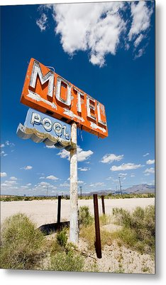 Abandoned Motel Metal Print by Peter Tellone
