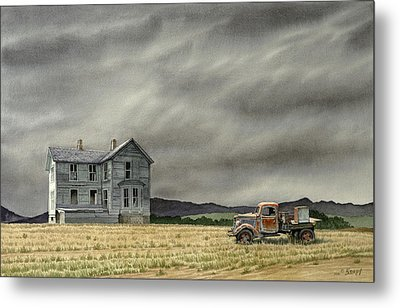 Abandoned   Metal Print by Paul Krapf
