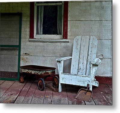 Abandoned Metal Print by Frozen in Time Fine Art Photography