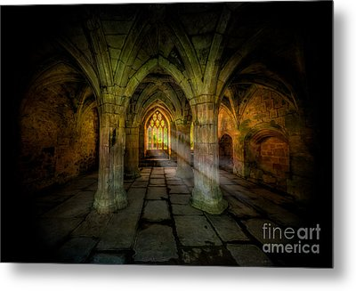 Abbey Sunlight Metal Print by Adrian Evans