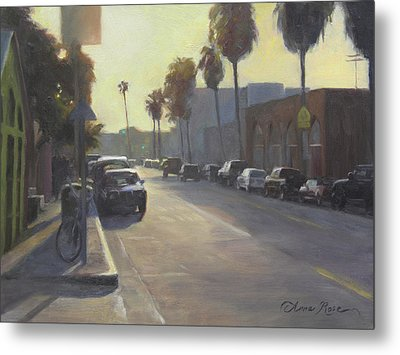 Abbot Kinney Sunset Metal Print by Anna Rose Bain