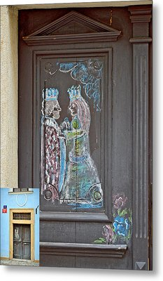 About Love. The Door. Next To Charles Bridge. Prague. Czech Republic. Metal Print by Andy Za