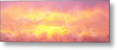 Above The Clouds - Abstract Art Metal Print by Jaison Cianelli