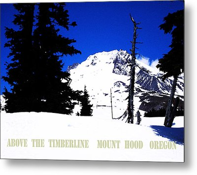 Above The Timberline  Mt Hood  Oregon Metal Print by Glenna McRae