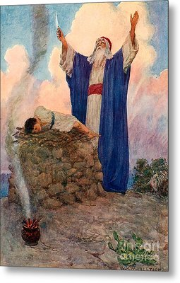 Abraham And Isaac On Mount Moriah Metal Print by William Henry Margetson