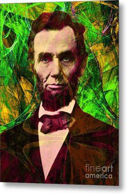 Abraham Lincoln 2014020502p68 Metal Print by Wingsdomain Art and Photography