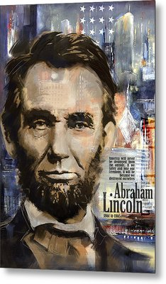 Abraham Lincoln Metal Print by Corporate Art Task Force