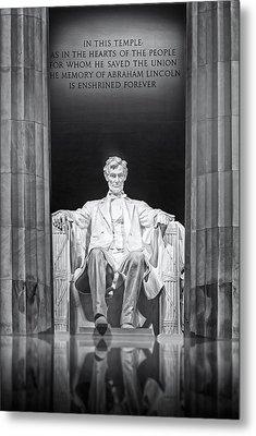Abraham Lincoln Memorial Metal Print by Susan Candelario
