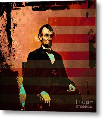 Abraham Lincoln Metal Print by Wingsdomain Art and Photography
