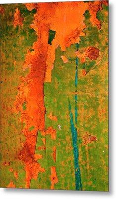 Absrtract - Rust And Metal Series Metal Print by Mark Weaver