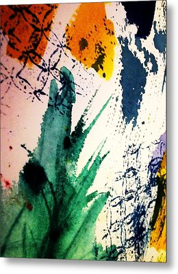 Abstract - Splashes Of Color Metal Print by Ellen Levinson
