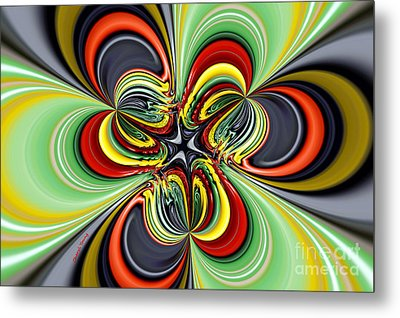 Abstract 301 Metal Print by Cheryl Young