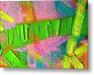 abstract 6814 Diptych Cropped XIV Metal Print by John  Nolan