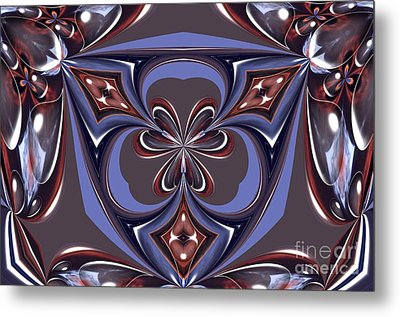 Abstract A027 Metal Print by Maria Urso