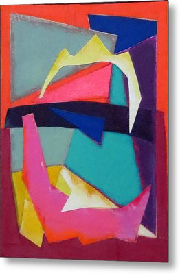 Abstract Angles Iv Metal Print by Diane Fine