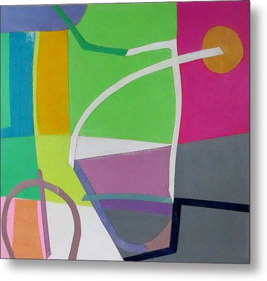 Abstract Angles X Metal Print by Diane Fine
