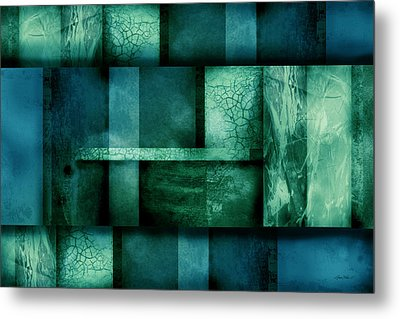 abstract art Blue Dream Metal Print by Ann Powell