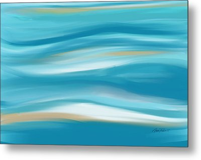abstract - art-  Contemplation  Metal Print by Ann Powell
