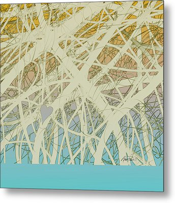 abstract-art-Follow Your Heart Metal Print by Ann Powell