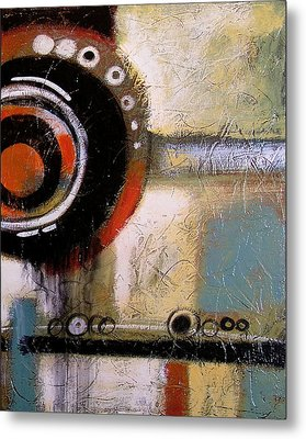 Abstract Art Print ... The World Goes Round 2 Metal Print by Amy Giacomelli