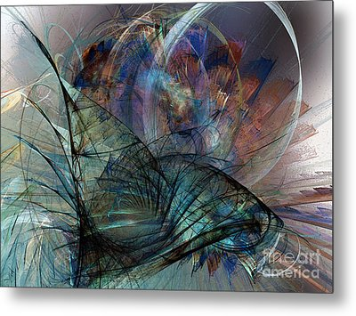 Abstract Art Print In The Mood Metal Print by Karin Kuhlmann
