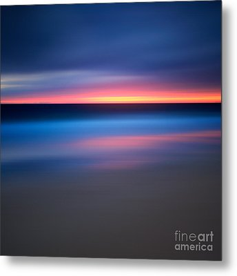 Abstract Beach Sunset Metal Print by Katherine Gendreau