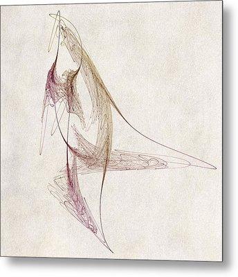 Abstract Bird Metal Print by David Ridley