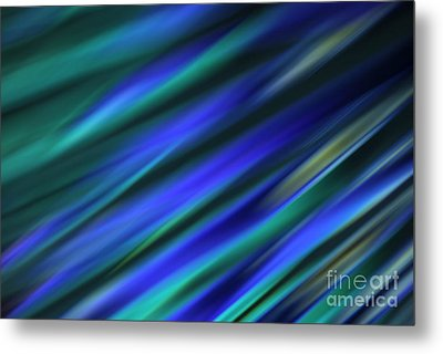Abstract Blue Green Diagonal Blur Metal Print by Marvin Spates