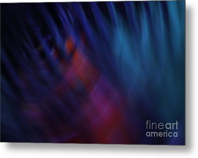 Abstract Blue Pink Green Blur Metal Print by Marvin Spates