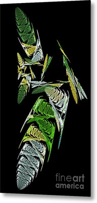 Abstract Bugs Vertical Metal Print by Andee Design