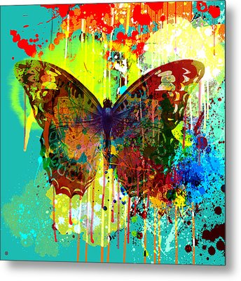 Abstract Butterfly Metal Print by Gary Grayson