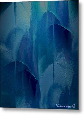 Abstract C-u-r Metal Print by Ines Garay-Colomba