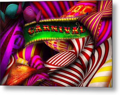 Abstract - Carnival Metal Print by Mike Savad