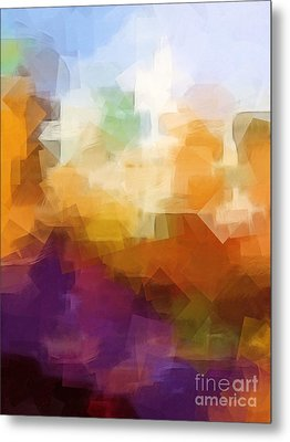 Abstract Cityscape Cubic Metal Print by Lutz Baar
