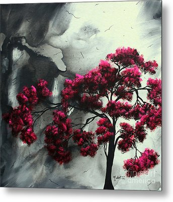 Abstract Contemporary Art Landscape Painting Modern Artwork Pink Passion By Madart Metal Print by Megan Duncanson