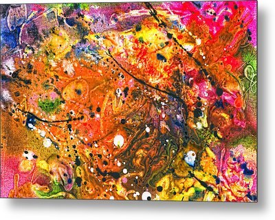 Abstract - Crayon - The Excitement Metal Print by Mike Savad