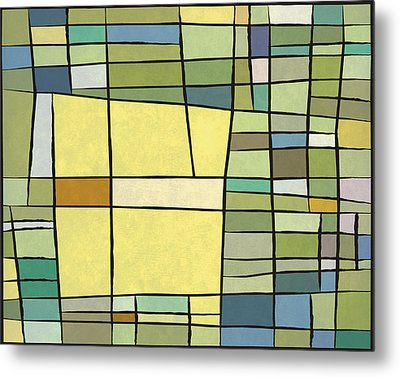 Abstract Cubist Metal Print by Gary Grayson
