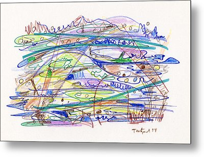 Abstract Drawing Eleven Metal Print by Lynne Taetzsch
