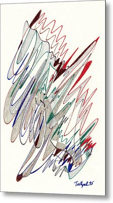 Abstract Drawing Fifty-one Metal Print by Lynne Taetzsch