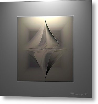 Abstract Duet Metal Print by Ines Garay-Colomba