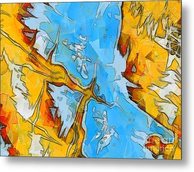 Abstract Elements  Metal Print by Pixel Chimp